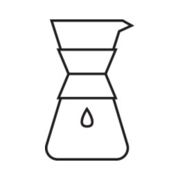Chemex brew method illustration