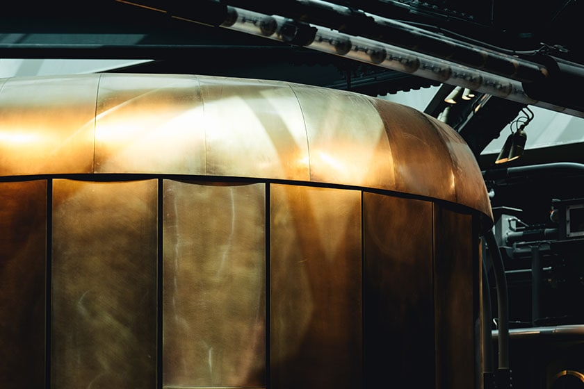 Image of cask where all coffee beans go to rest after roasting Starbucks Reserve Roastery in Milano, Italy