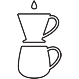 Pour-over brew method illustration