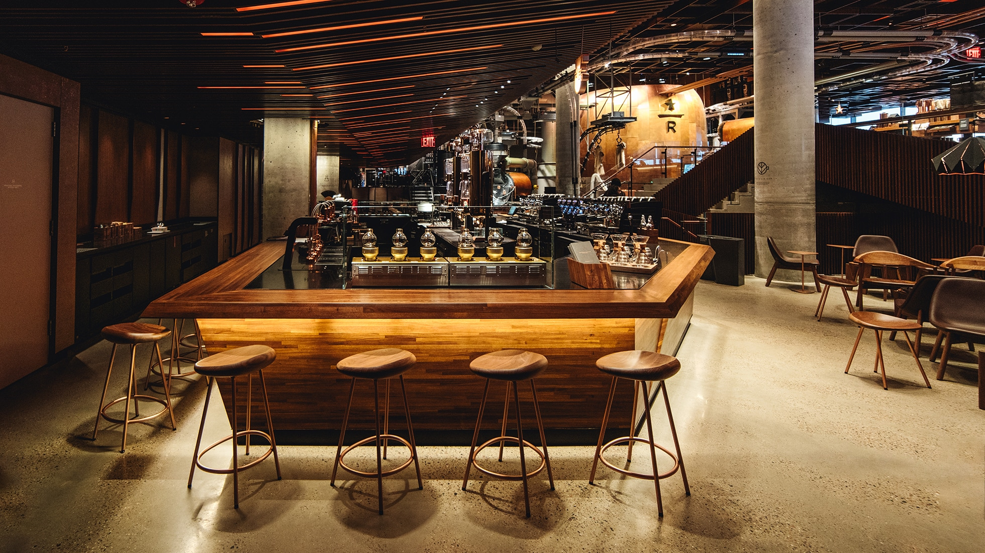 The Experience Bar in the New York Roastery