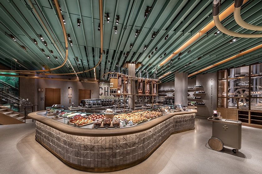 The Starbucks Reserve Coffee Bar in the Chicago Roastery