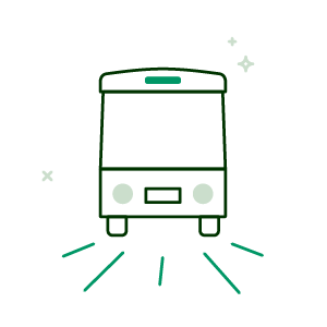 commuter bus icon