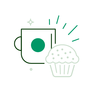 coffee and muffin icon