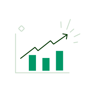 stock chart graph icon