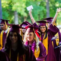 ASU students at graduation ceremony