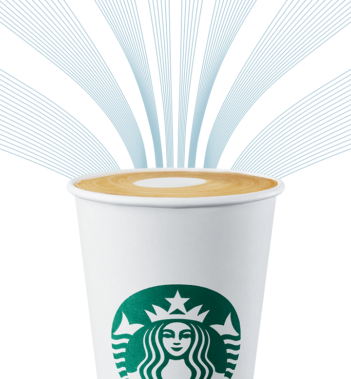 Non-dairy beverage in a to-go Starbucks cup