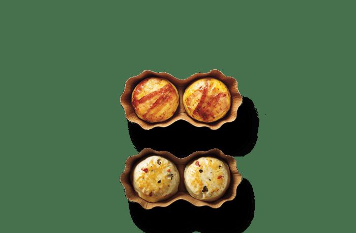Two different sous vide egg bites