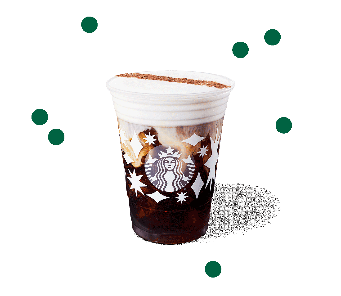 Cold Brew topped with a cloud of vanilla sweet cream cold foam and a hint of cocoa.