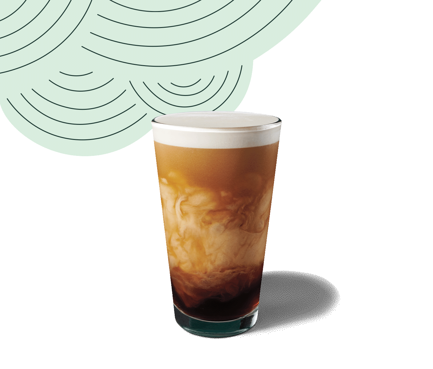 Glass of Nitro Cold Brew with Sweet Cream.