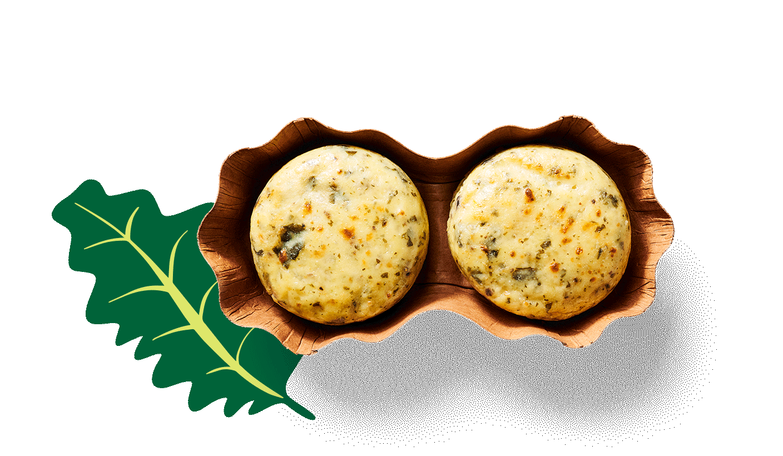 Kale & Portabella Mushroom Sous Vide Egg Bites