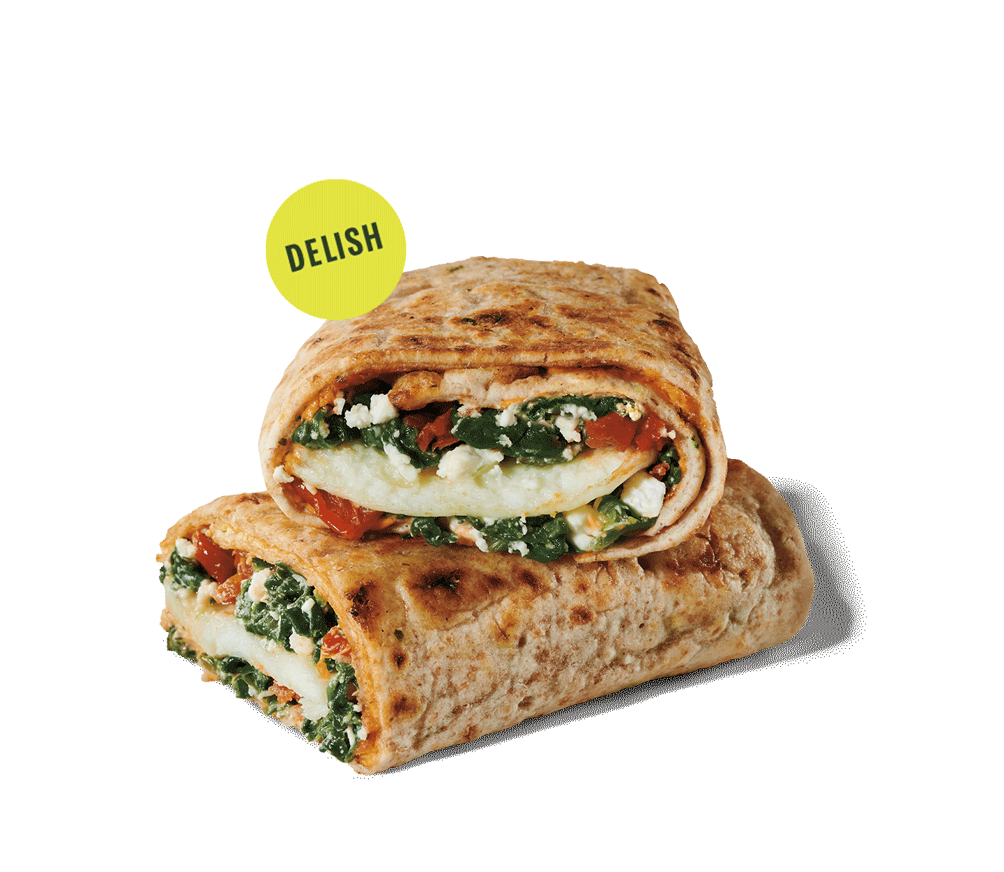 Spinach, feta and cage-free egg white wrap