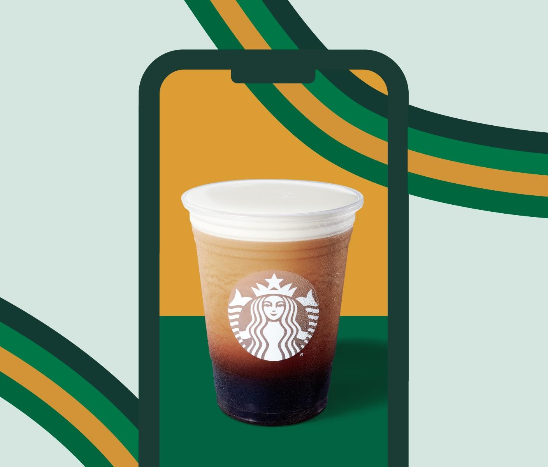 Nitro cold brew on mobile phone screen
