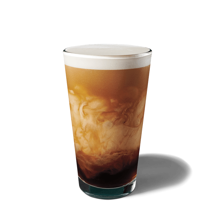 A glass of Nitro Cold Brew with Sweet Cream