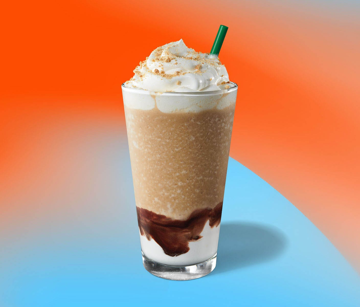 Creamy, chocolaty and layered blended beverage
