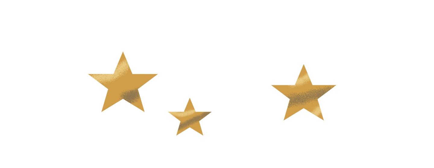 Starland logo with sparkly stars