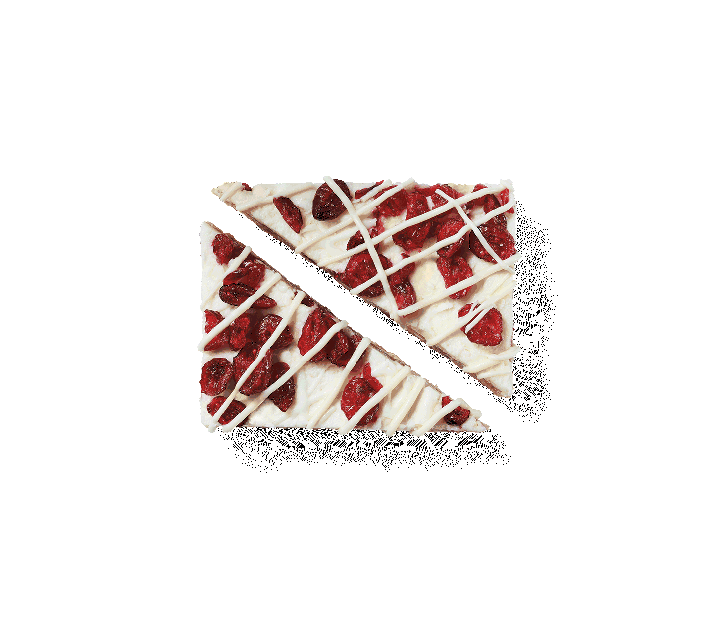 A Cranberry Bliss® Bar cut into triangles