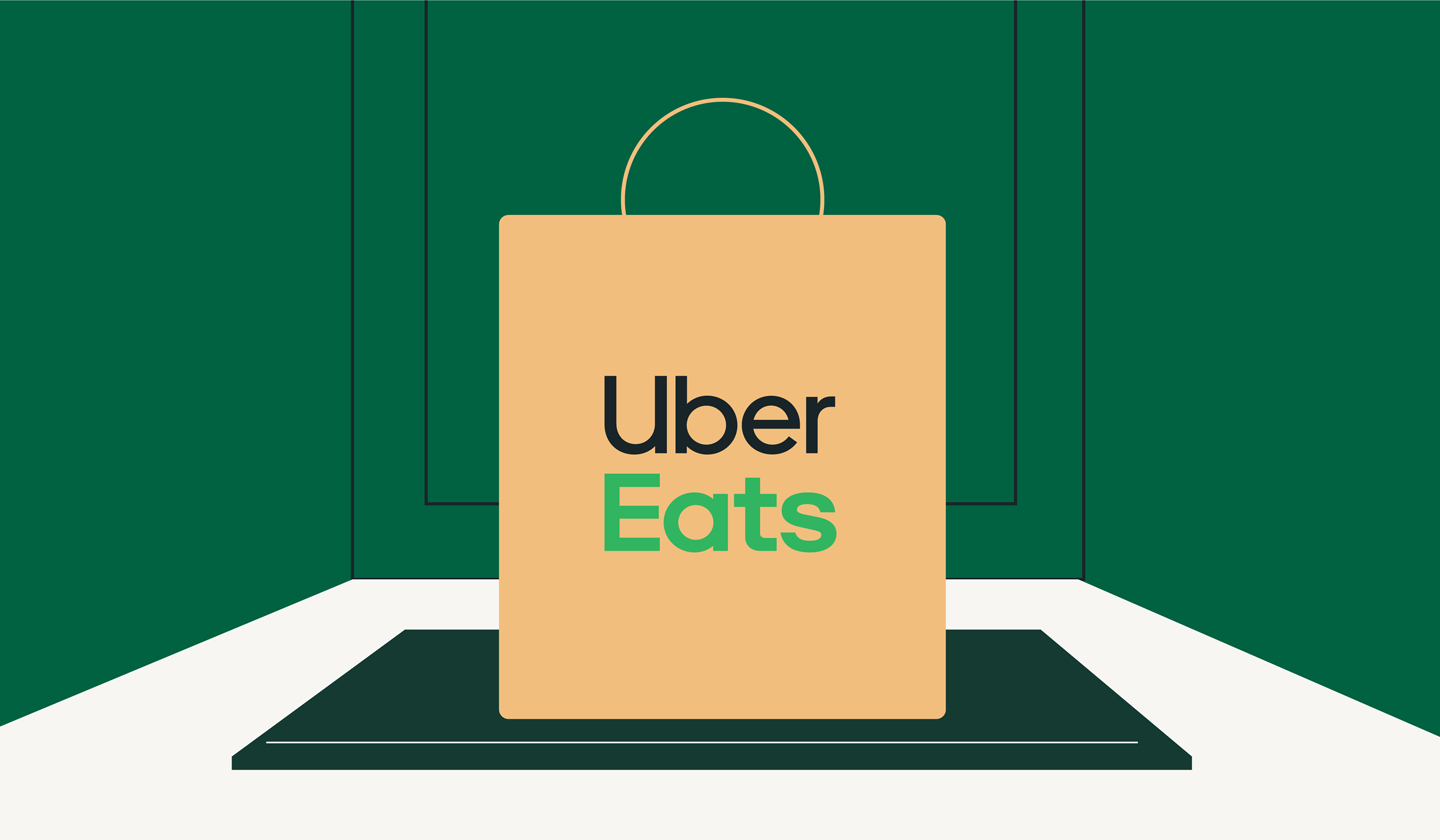 Delivery bag with Uber Eats logo
