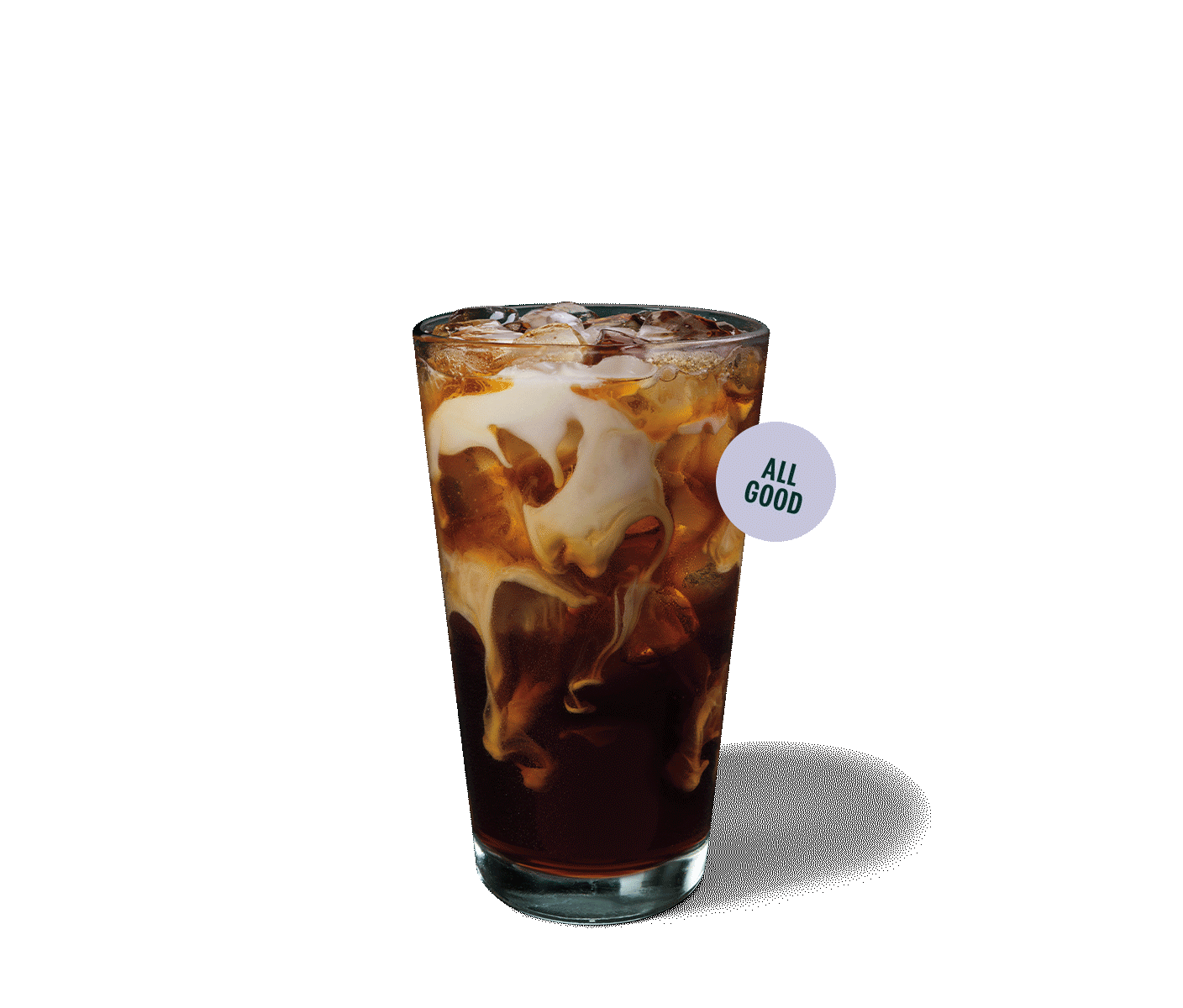 A glass of Vanilla Sweet Cream Cold Brew.