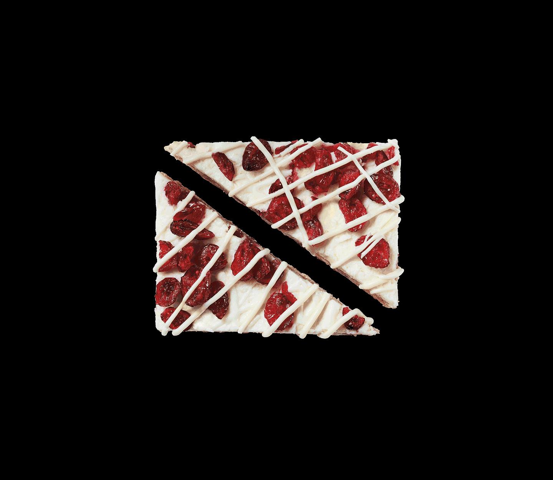 Barre Bliss® aux canneberges découpée en triangles