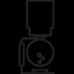 Siphon brew method illustration