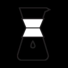 Chemex brew method illustration