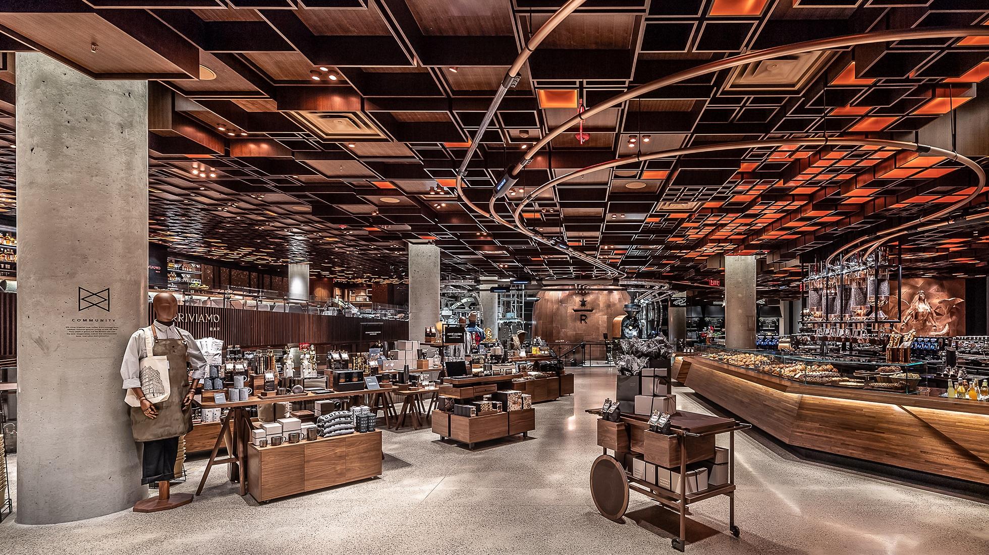 Interior of New York Roastery
