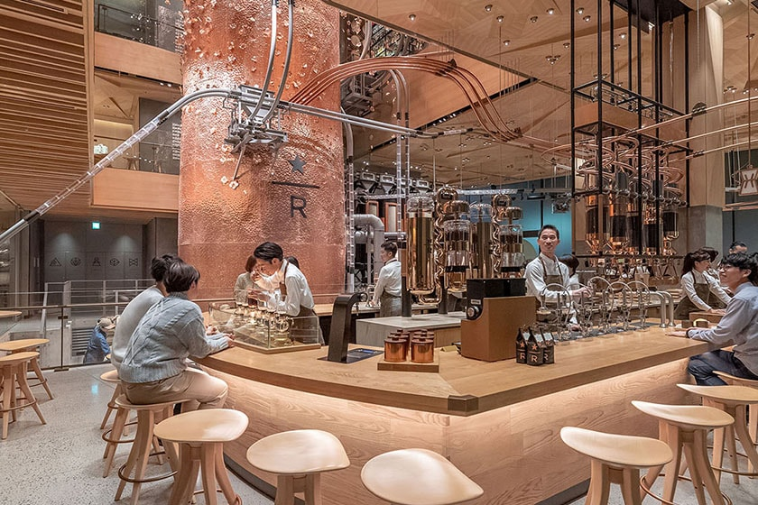 Main Bar on the ground floor of the Tokyo Roastery