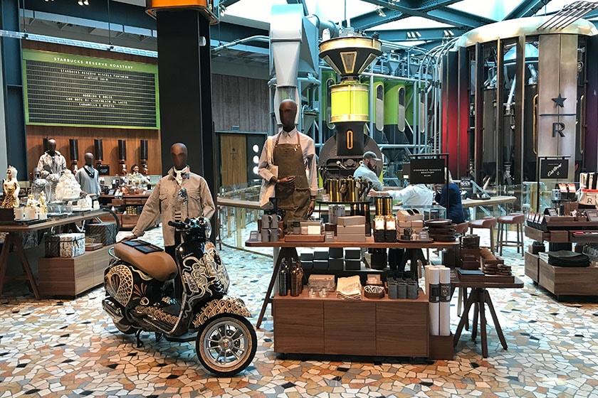 Image of retail space the Starbucks Reserve Roastery in Milano, Italy