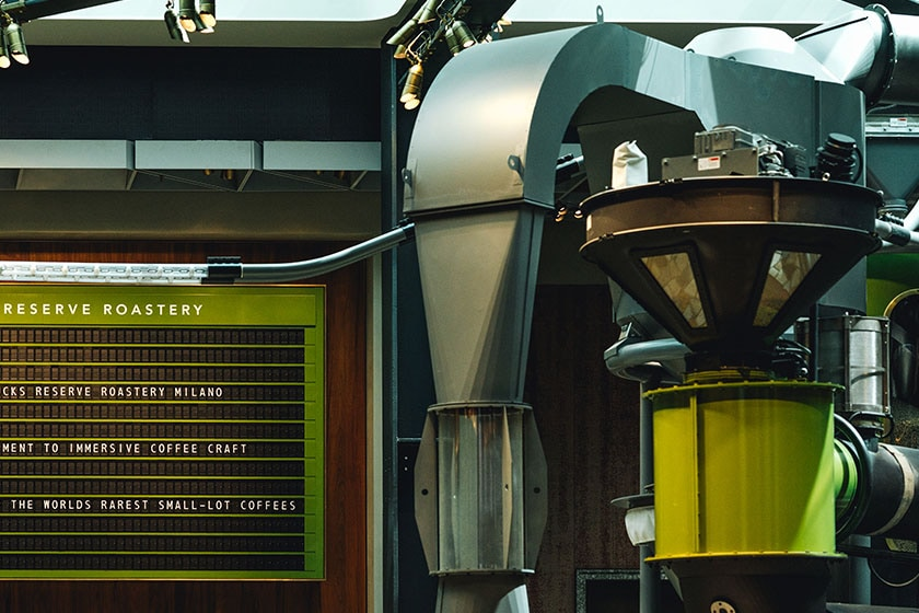 Image of Scolari Roaster in the Starbucks Reserve Roastery in Milano, Italy
