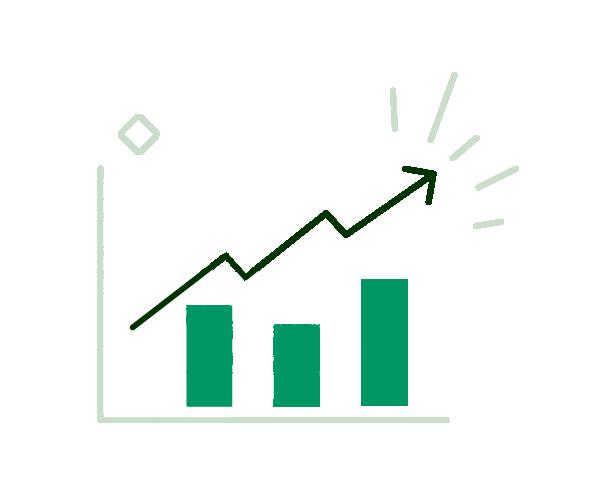 stock chart graph icon